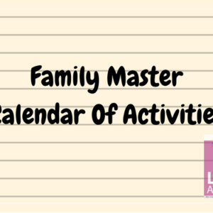 Family Calendar Of Activities
